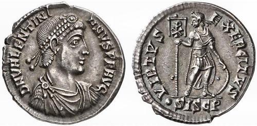 Adrianápolis, Denario de Valentiniano.