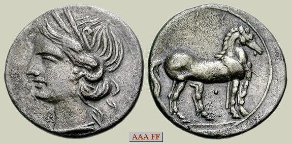 1/4 Shekel. CARTAGO 220-205 a.C. Zeugitania Cartago_m1